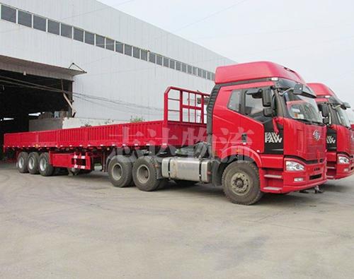 常熟至新疆龙8国际官网专线半挂货车